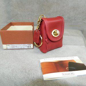 Coach Vintage Mini Daypack Key Fob #7253 Red NIB!